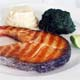 GRILLED FRESH SALMON With Mashed Potatoes and Spinach